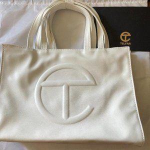 Telfar white  Medium Bag